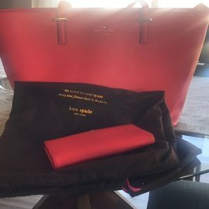 Kate Spade 'Poppy' Tote w/ matching wallet